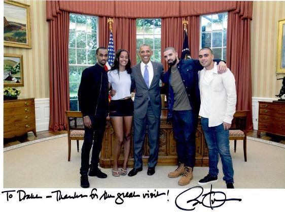Pres. Barack Obama received by Drake
