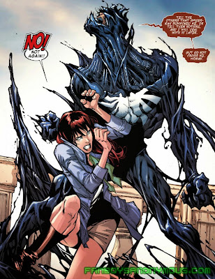 Read about Venom and Mary Jane's first meeting in Amazing Spider-Man #299 and #300