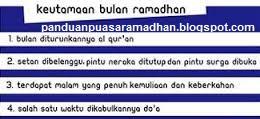 Fadhilah dan Hikmah Bulan Suci Ramadhan 10 Hari
