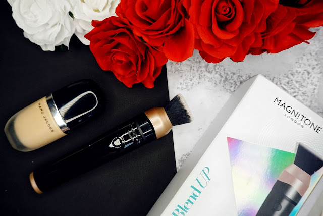 the Blend up Vibra-Sonic™ Makeup brush by Magnitone.