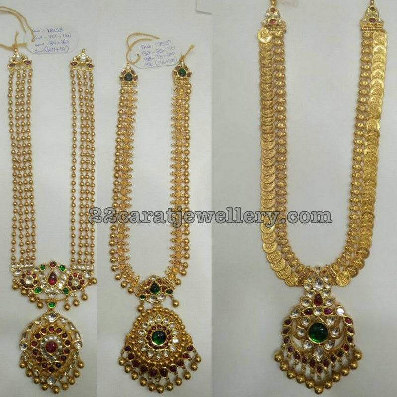 simple gold long sets 50 grams jewellery designs