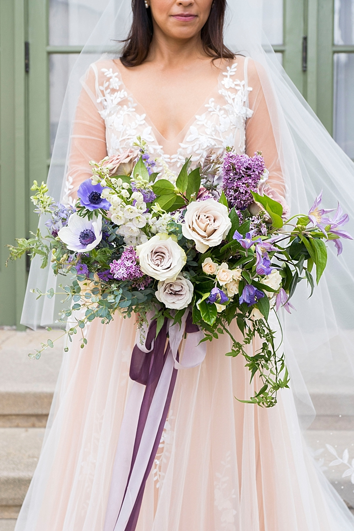 Purple and white #bridal #bouquet