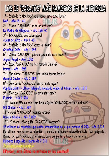 """Los 12 """"CARAJOS"""" más famosos de la historia"""