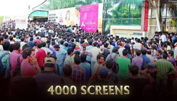 Number of screens in which the movie is set to release