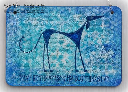 Katzelkraft rubber stamp - Dog 04, By Nikki Acton