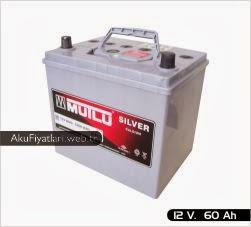 mutlu akü silver serisi 12 volt 60 amper