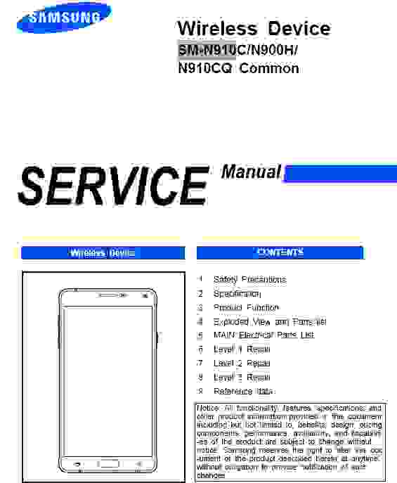 Samsung Galaxy Note 4 Service Manual
