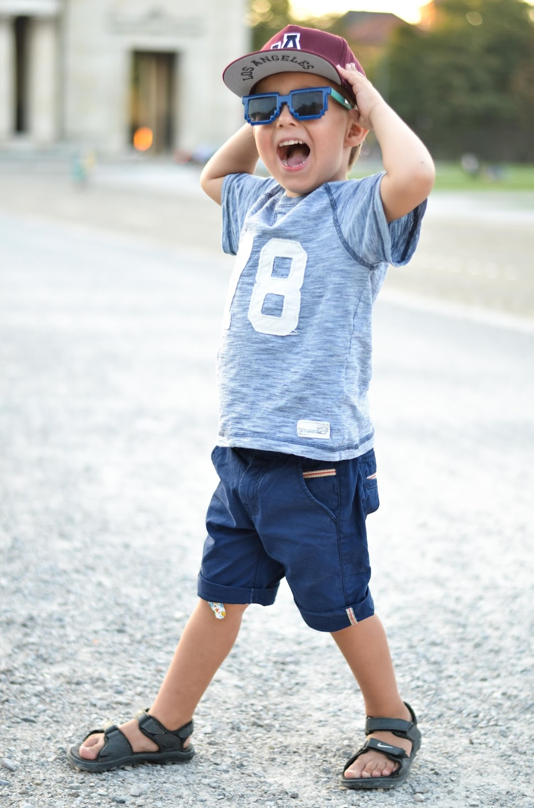 toddler summer style cap tshirt shorts