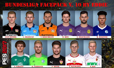 PES 2017 Bundesliga Facepack v10 by Eddie Facemaker