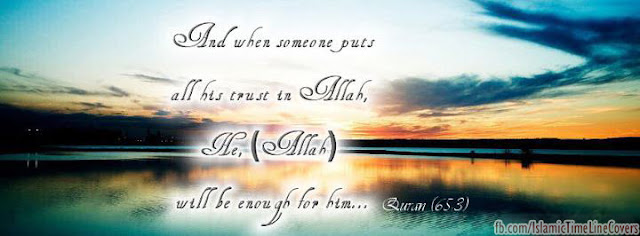 And when someone puts all his trust in Allah