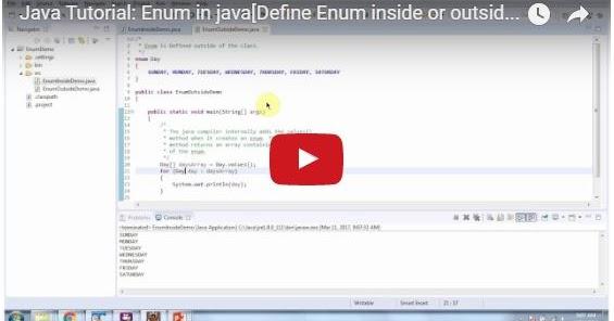 Java ee java tutorial enum in java define enum inside or for Pool design pattern java