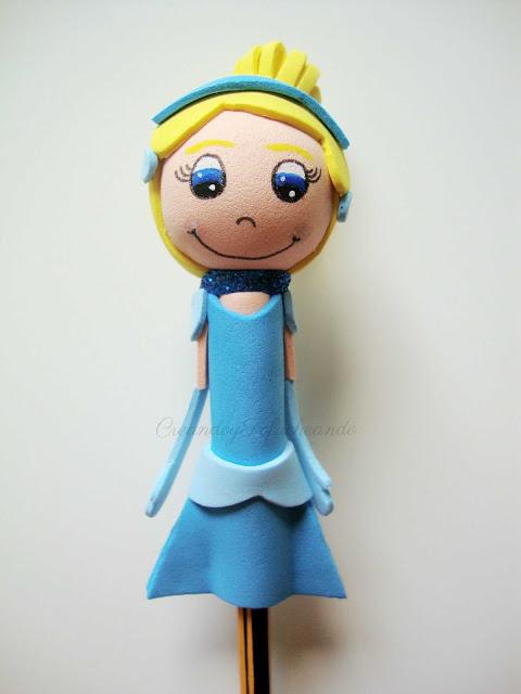 Fofulapiz de la princesa Cenicienta paso a paso