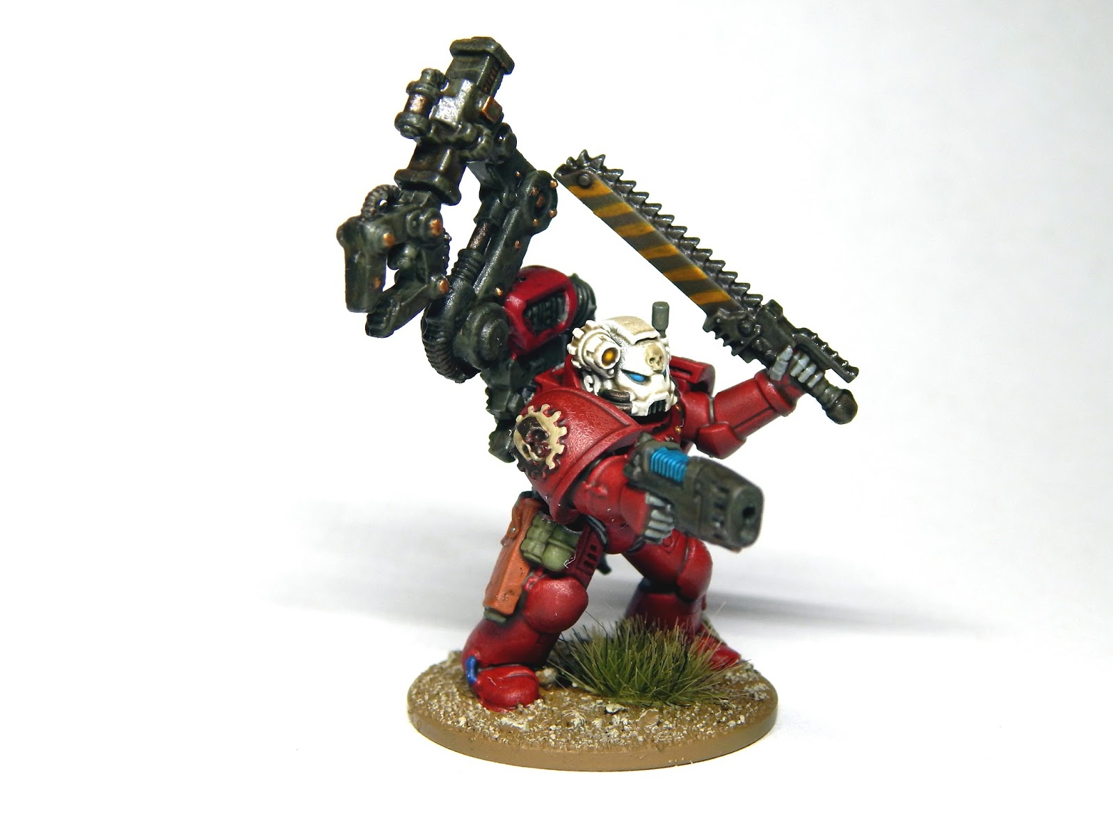 In Order To Run Almost Any Vehicle A 2nd Ed Army You Needed Include Techmarine Your List So Here He Is Plastic Metal Kit Bash