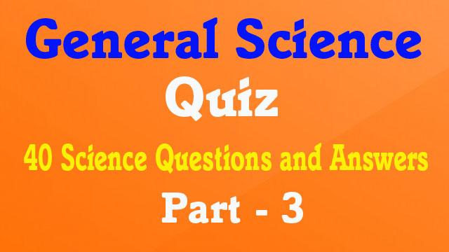 General Science GK Quiz || 40 General Knowledge Quiz