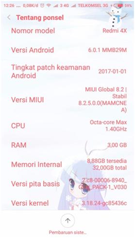 cek spesifikasi cpu hp Android