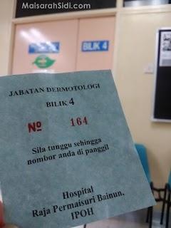 Temujanji Terakhir dengan Doktor kerana Sporotrichosis