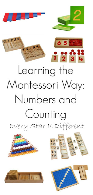 Learning numbers and counting the Montessori way