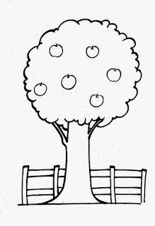 Desenho de árvore para colorir
