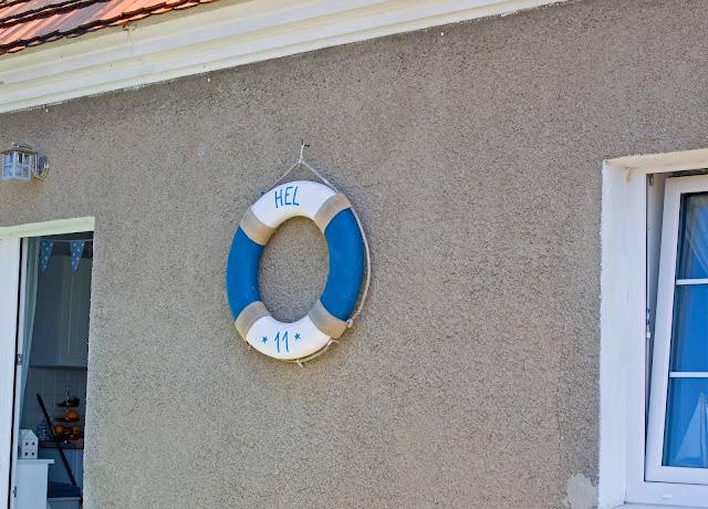 koło ratunkowe Hel, polskie morze, detale