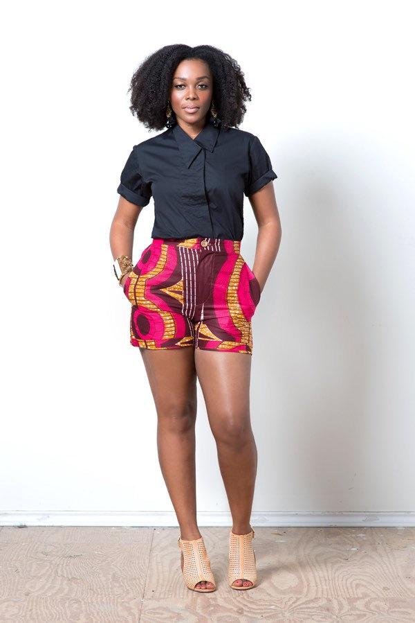 Adanze S Lookbook 30 Ankara Shorts For Ladies