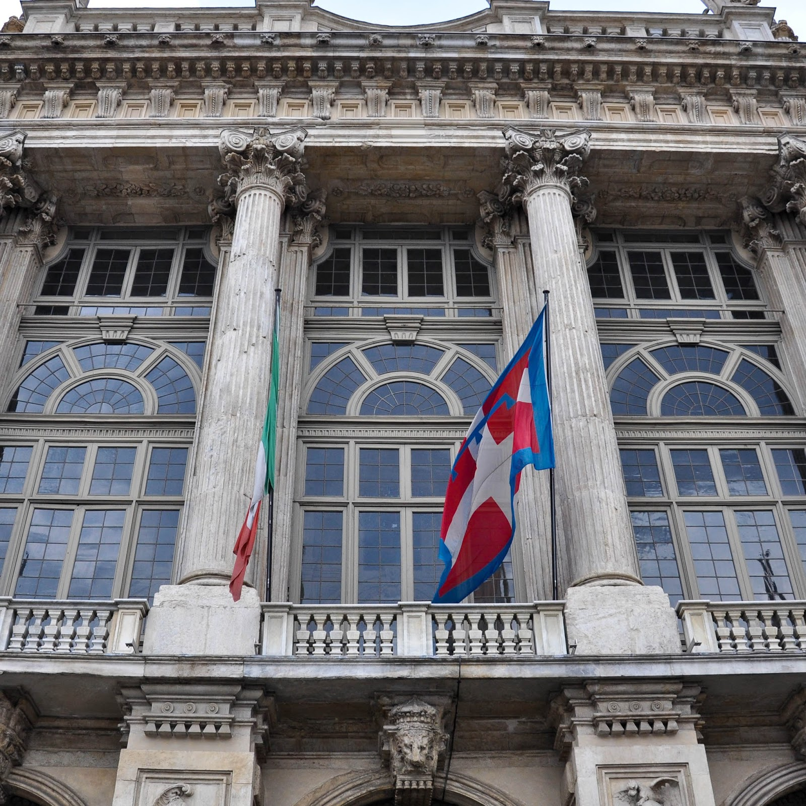 Close-up of the facade, Palazzo Madama, Turin, Italy