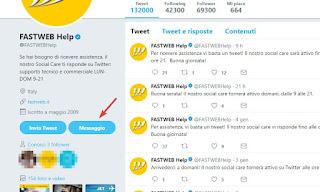 Assistenza Fastweb Twitter