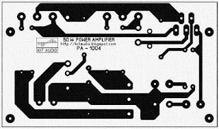 50 Watt audio power amplifier pcb