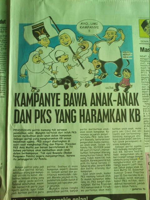 Kampanya Bawa Anak-anak dan PKS yang Haramkan KB