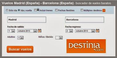Buscador de vuelos Madrid Barcelona