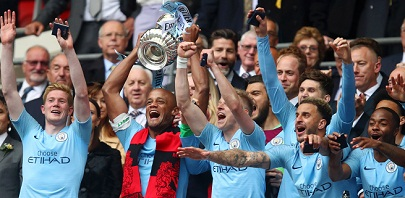 Manchester City wins FA Cup over Watford to catch english domestic treble.