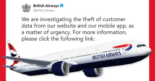 British Airways Hacked - 380.000 carte di pagamento compromesse