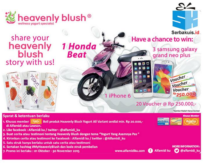 Promo Heavenly Blush Alfamidi Berhadiah Motor Honda Beat