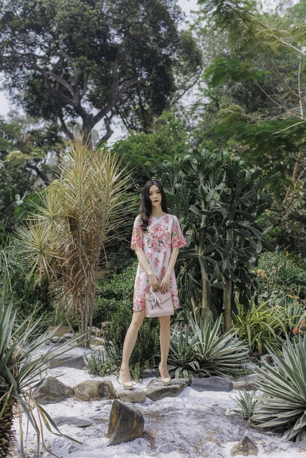 Hoa hậu Thùy Dung gợi ý chọn váy hoa cho nàng công sở - 3