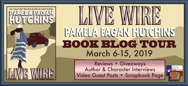 Live Wire book blog tour promotion banner