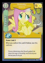 MLP Fluttershy - Start, Reformer Absolute Discord CCG Card