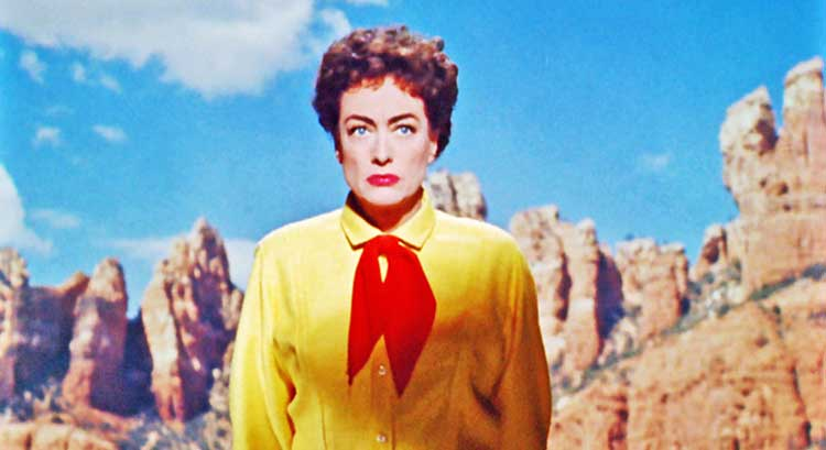 Joan Crawford stars as Vienna in Johnny Guitar, directed by Nicholas Ray.