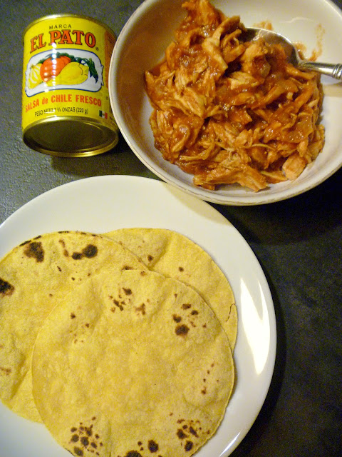 "Pulled from the ""real deal"" Mexican archives this No Fuss Spicy Chicken Taco Meat is perfect for Taco Tuesdays! Slice of Southern"