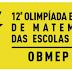 SEGUNDA FASE DA OBMEP SERÁ REALIZADA NO SÁBADO (10)
