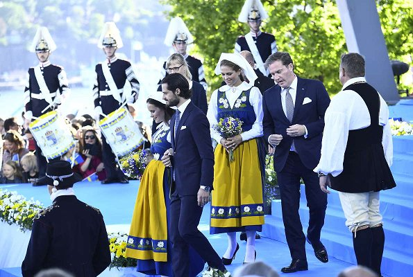 King Carl Gustaf, Queen Silvia, Crown Princess Victoria, Prince Daniel, Princess Estelle,  Prince Carl Philip, Princess Sofia, Princess Madeleine and Christopher O'Neill