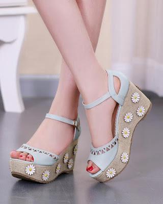 sandalias elegante plataforma