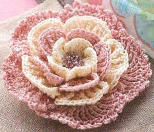 Eccezionale Passione uncinetto: Uncinetto: schema decorazione fiore YF96