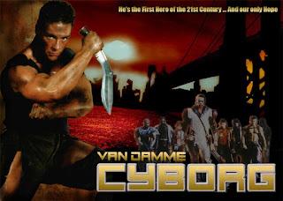 Póster película Cyborg - Van Damme