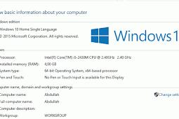 Cara Memeriksa Spesifikasi Laptop Atau PC - Untuk Windows 7,8, 10 & MAC