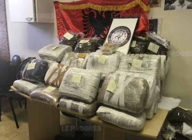 1 million euros of drugs with the Albanian flag seizet in France