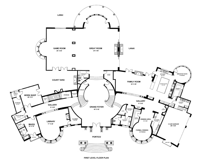 Eileen's Home Design: 10,000 SF Mansion Designed For a Lot