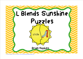 FREEBIE L Blends Sunshine Puzzles