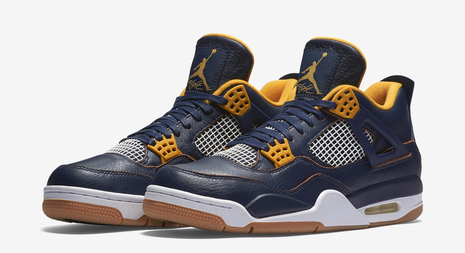 Air Jordan 4 Retro Midnight Navy/Gold Leaf/White/Metallic Gold