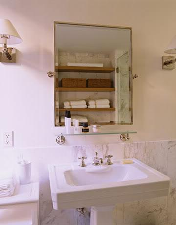Bathroom in Belgian style Manhattan apartment of Ina Garten
