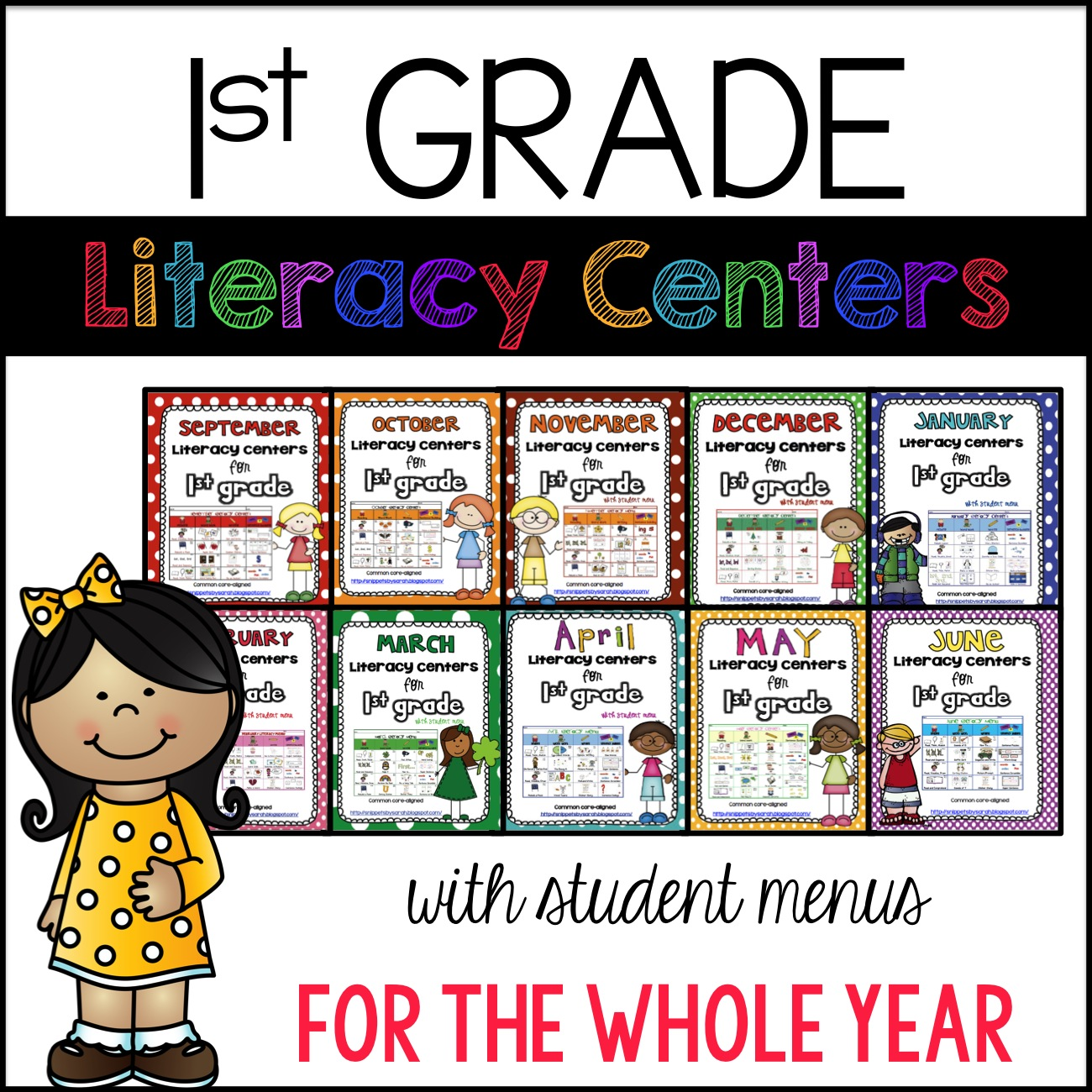 Sarah S First Grade Snippets 1st Grade Literacy Center Bundle