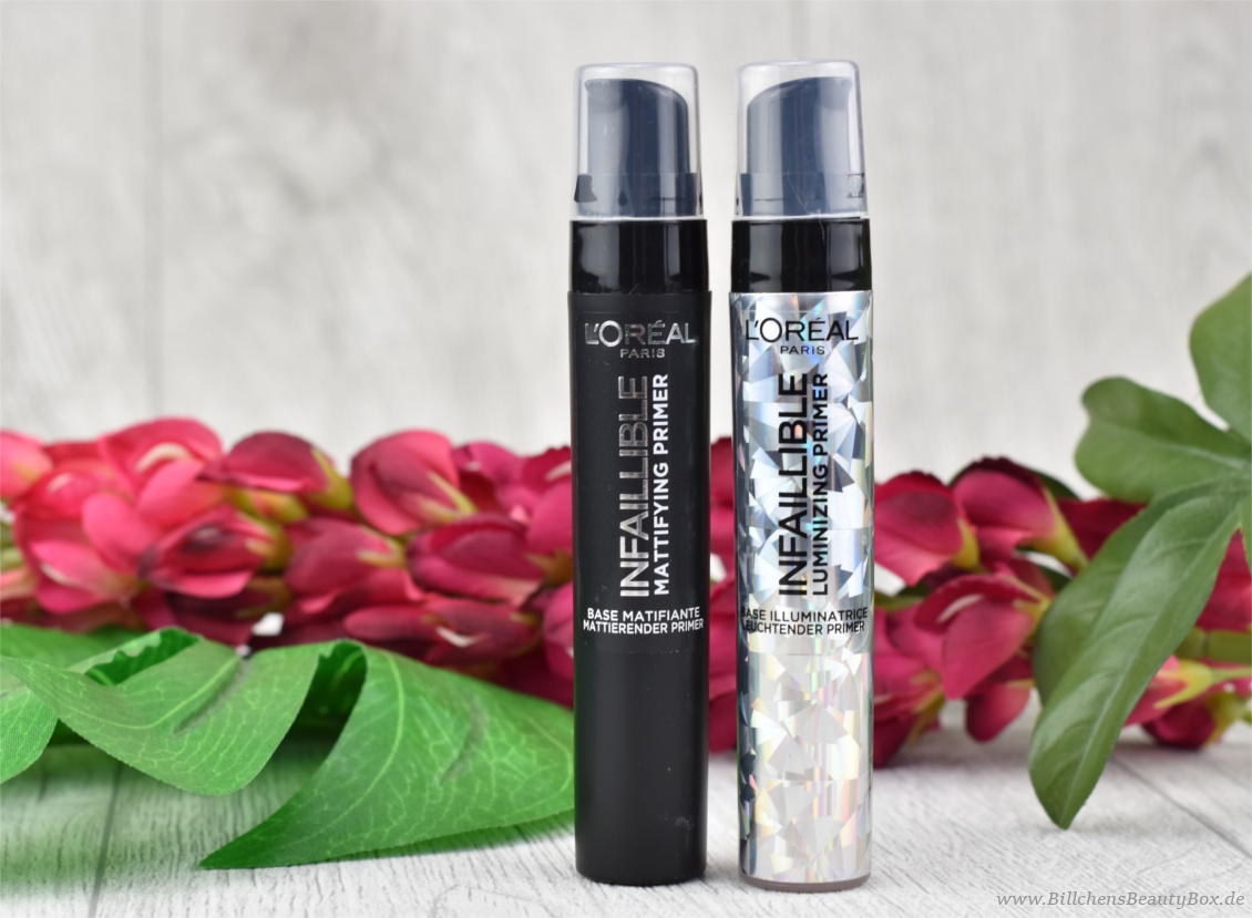L'Oréal INFAILLIBLE Mattifying und Luminizing Primer - Review und Swatches
